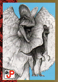 Jurassic Park Topps Trading Card Dilophosaur