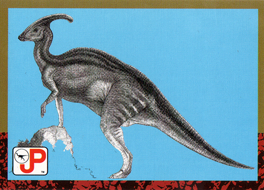 Jurassic Park Topps Trading Card Parasaurolophus