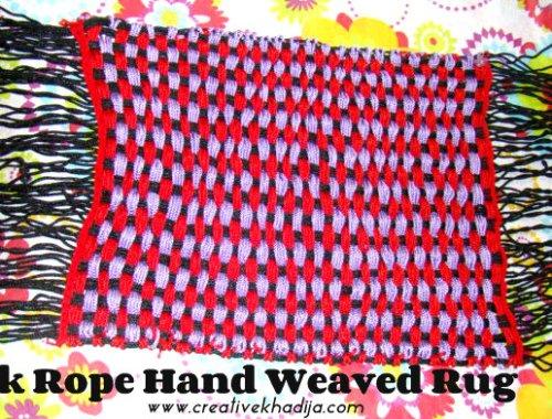 Silk Rope Hand Weaved Rug