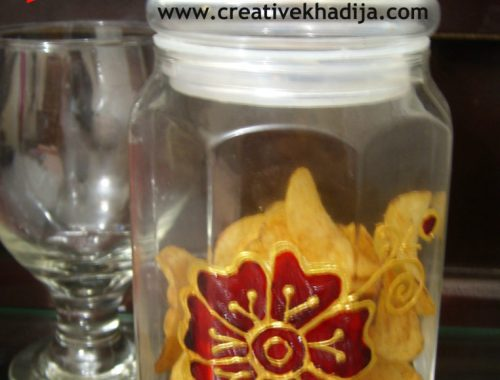 glasspaint jar tutorial