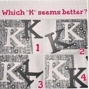 k monogram wall art