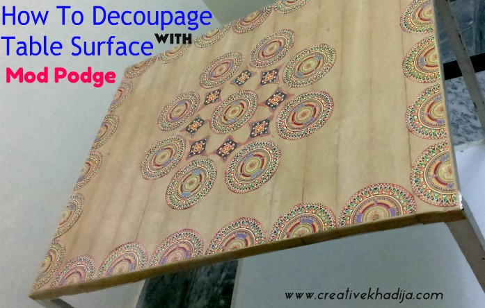how to decoupage a table