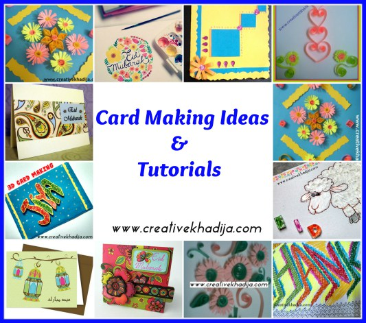 23 eid hajj creative craft ideas for Craft supplies for card making