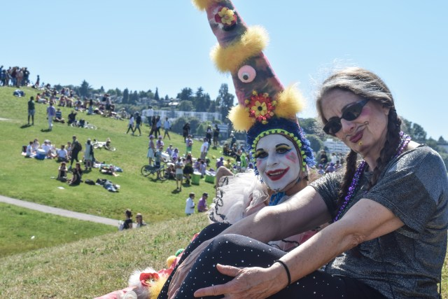 some wild characters at the Summer Solstice Festival in Gas Works Park