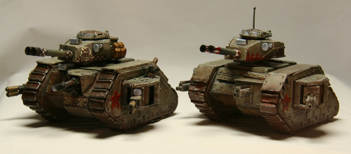 Scratch Built Leman Russes Painted