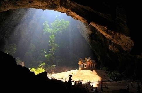 Kuha Karuhas Pavilion inside Phraya Nakhon Cave in Khao-Sam-Roi-Yot National Park in Thailand