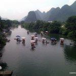 Downstream of the bridge, headed toward Yangshuo
