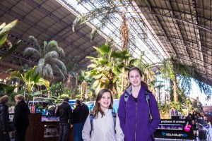 The refurbished old Madrid train station, with jungle sized trees inside.