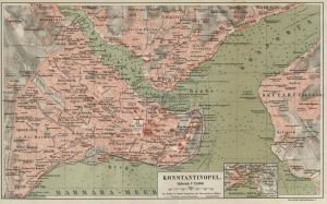 Old map of Constantinople
