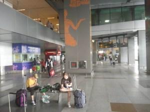 New Delhi Airport 101 degrees.