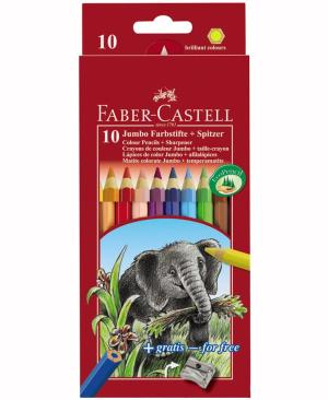 creioane colorate jumbo faber castell