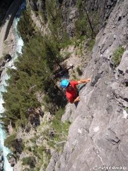stage initiation escalade Queyras calcaire grande voie