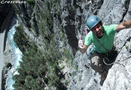 Escalade activités sportives Hautes Alpes Queyras calcaire grande voie