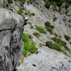 escalade grande voie, Aiguille du Chas, Chas de l'Aiguille