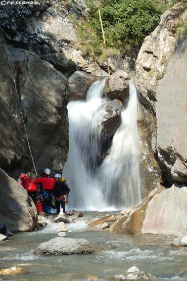 découverte canyon, progression canyoning