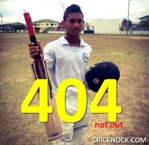Brian Lara II – 14 years old Kirstan Kallicharan scores 404 not out