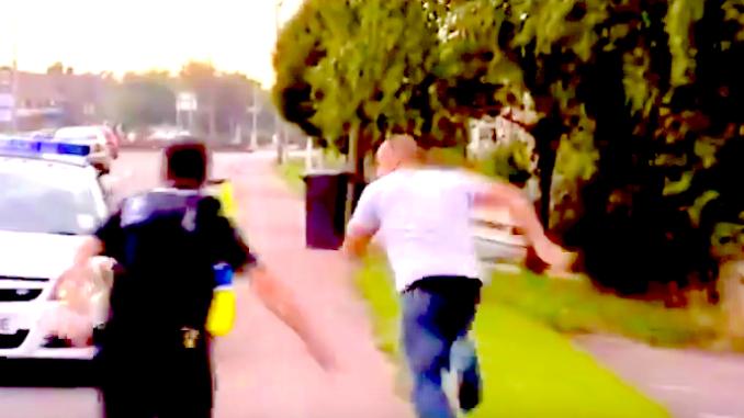 video arrestatie, grappig video aanhouding, vluchtpoging politie video