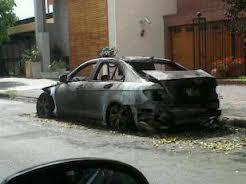 El incendio del Mercedes fue el último ataque incendiario.