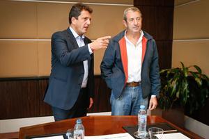Massa y Cobos se mostraron juntos en Mendoza.