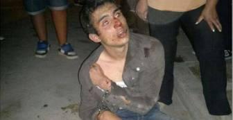 Un joven ladrón quedó a merced de la turba.