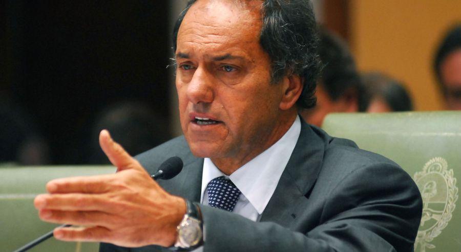 Scioli está inquieto por el frente judicial.