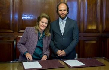 Highton y Pagano firmaron el convenio.