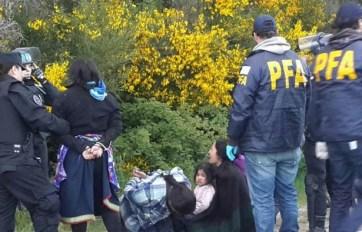Los mapuches detenidos en Mascardi.