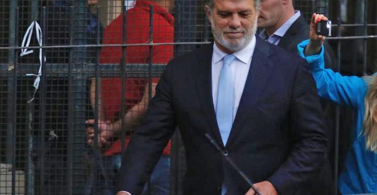 Gianfranco Macri se va de los tribunales.