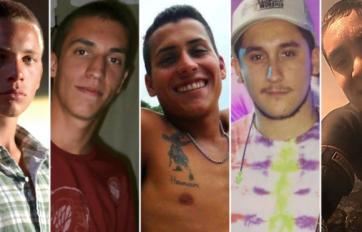 Los cinco acusados del ataque sexual.