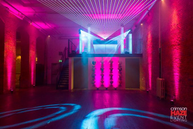 Laser effects by Crimson Haze Event Lighting.