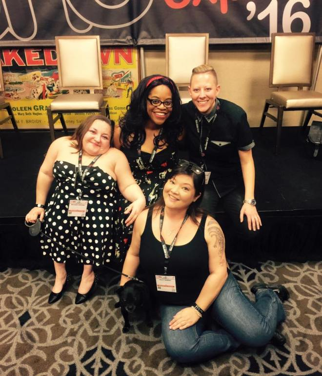 Group shot after our AVN talk; from L to R Me, Robin, Stephanie, Sullivan, and Kelly
