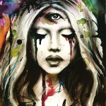 thirdeye painting tears wash it away love art by andreabengeart