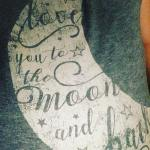 love you to the moon and back tshirt hot sweatyhellip