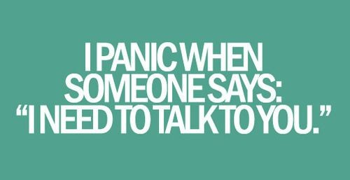 Trebuie sa vorbim