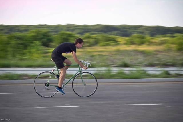 cristian florea pe bicicleta