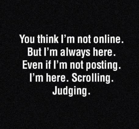 scrolling judging