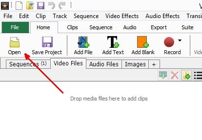 Open - VideoPad