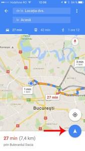 google maps pentru iPhone - pit-stop 3