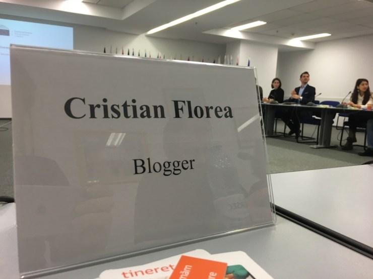 cristian florea - blogger - intalnire cu tineri Erasmus