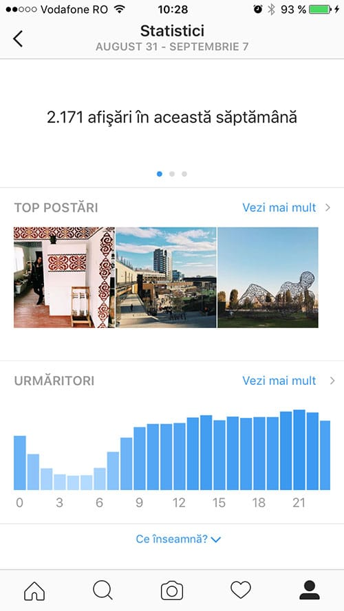 statistici instagram - profil business 2
