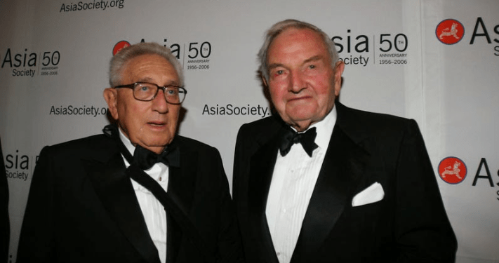 David Rockefeller y su pupilo Henry Kissinger