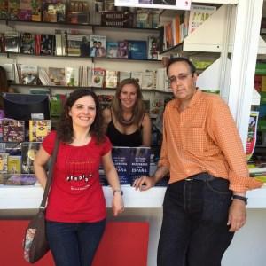 Con David Arroyo y Mónica H. Barbón