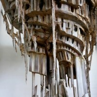A detail of Diana Al-Hadid's 'Self-Melt' (2008) - Perry Rubenstein Gallery.
