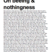Beeing & Nothingness
