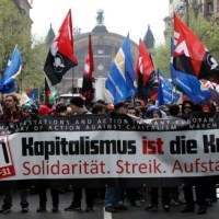 "Demonstration in Frankfurt 31 March 2012 ""Capitalism IS the Crisis"""
