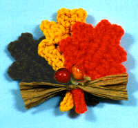 CROCHET MEMORIES AUTUMN LEAVES FRIDGIE CROCHET