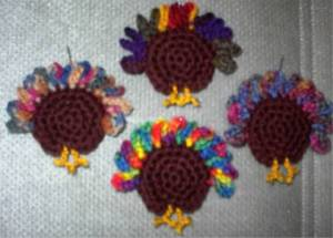 crochet turkey butt fridgie