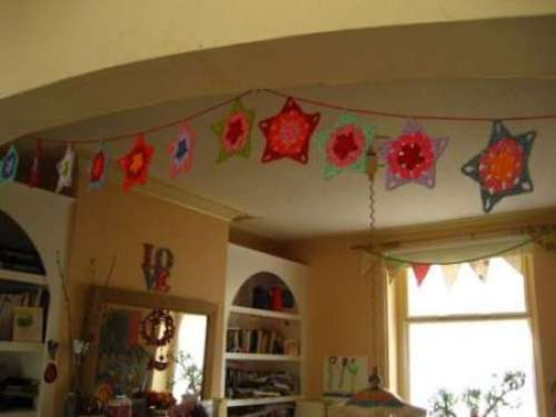 crochet garland stars  1209