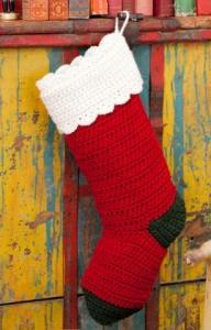 crochet christmas stocking free pattern from red heart yarn