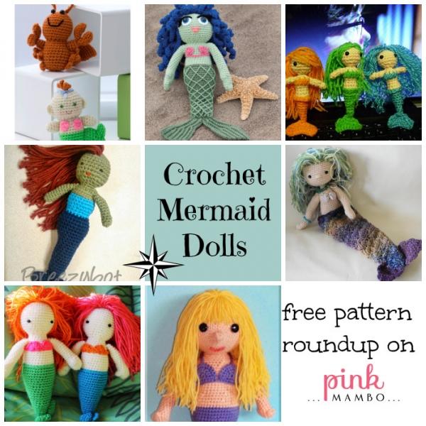 Free Knitting Pattern Mermaid Doll : Free Patterns   Mermaid Dolls   Crochet